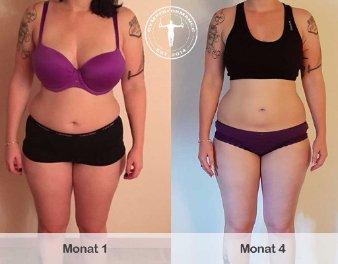 Ernährungsplan zum Abnehmen: Jasmin hat mit Hilfe eines Ernährungsplans von Gym Performance über 11 Kilogramm Fett abgenommen