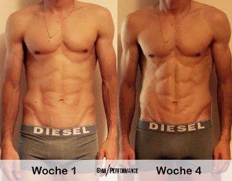 Gleichzeitiger Muskelaufbau und Fettabbau