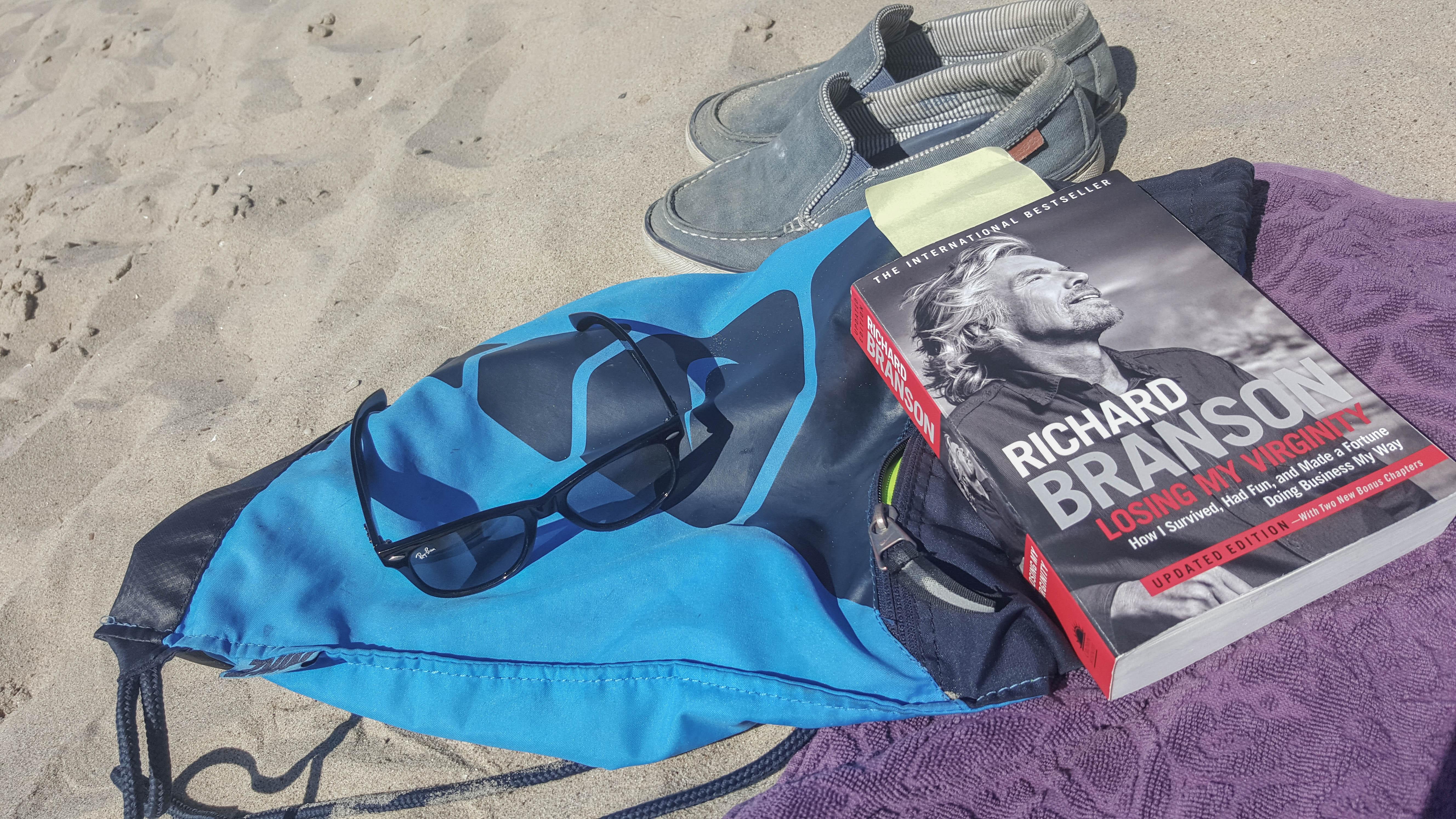 Auch im Urlaub wird fleissig gelesen