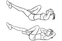 High Intensity Interval Training - Bicycle Crunches