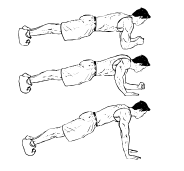 High Intensity Interval Training - Plank Up and Down