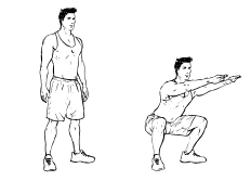 High Intensity Interval Training - Squats