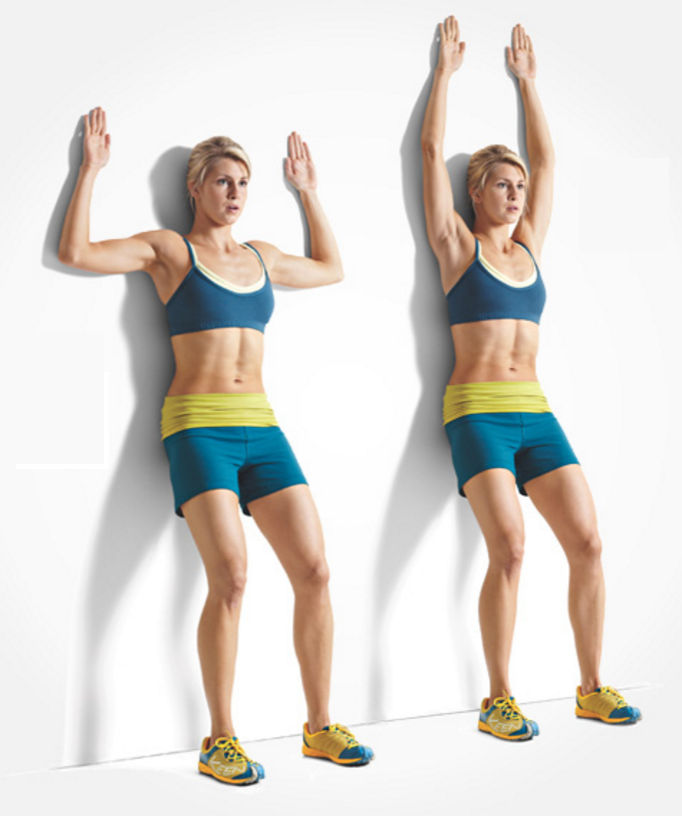 Übung für bessere Körperhaltung - Wall Slides