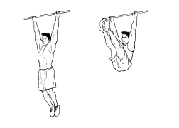 Fit ohne Geräte - Bauch - Hanging Leg Raises