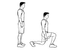 Fit ohne Geräte - Beine - Lunges