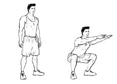 Fit ohne Geräte - Beine - Squats