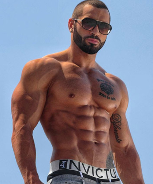 Bodybuilder Lazar Angelov