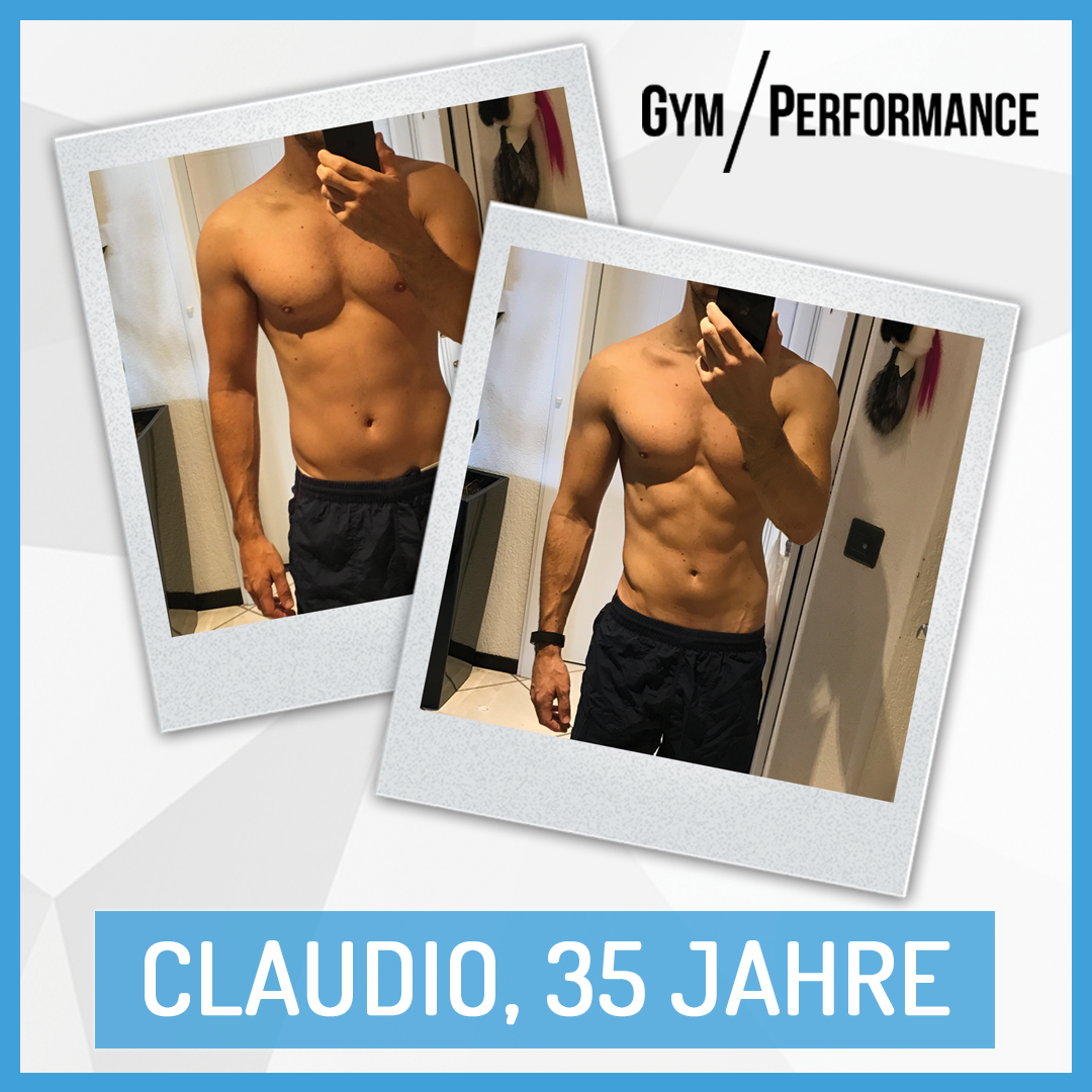 Claudio hat keine einzige Cardiosession durchgeführt. Zudem isst er kein Gemüse, was sich als Herausforderung bei der Planungs des Ernährungsplanes feststellte. Sichtbare Ergebnisse wurden trotz dessen erzielt.