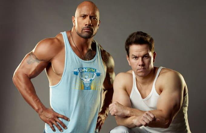 Dwayne Johnson und Mark Wahlberg