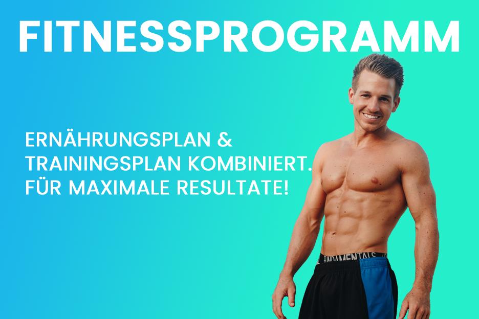 Fitnessprogramm: Ernährungsplan und Trainingsplan kombiniert. Für maximale Resultate.