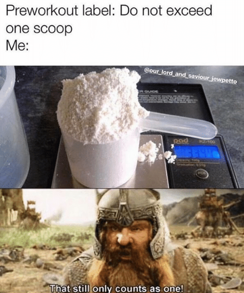 "Pre Workout Booster - ""One Scoop"""